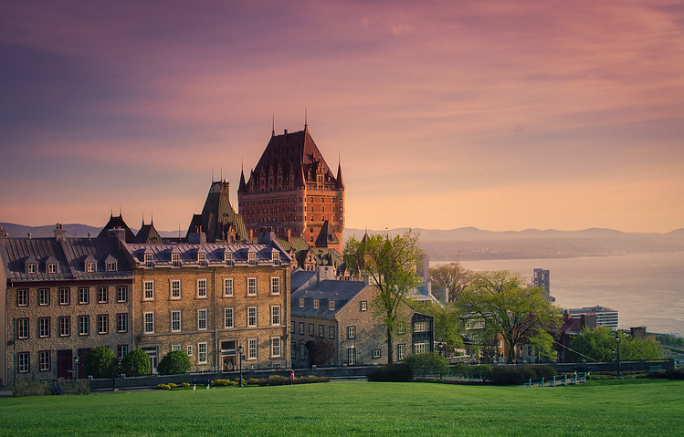 Château Frontenac at sunset